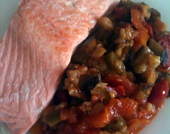 Salmone_ratatouille